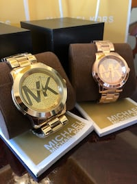 BRAND NEW Michael Kors Watches! $120 EACH of $200 BOTH. Gold / Rose Gold! Grand Prairie, 75052