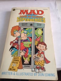 Rare Collectible early MAD Magazine : MAD book of Almost Superheros (book)