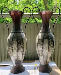 "SET of 2 Large Metal VASES 26"" Tall Toronto, M6N 2H6"