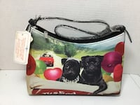 BLACK PUGS JUST MARRIED PURSE NEW Bedford, 03110