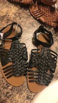 pair of black leather sandals Baton Rouge, 70812