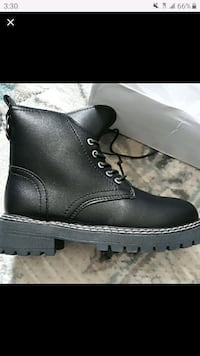 Black Lace-up Combat boots from Romwe Lawrenceville, 30046