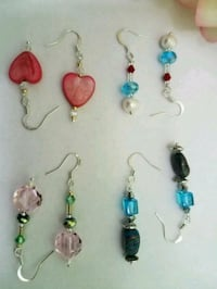 assorted color beaded necklace and earrings Miami Beach, 33139