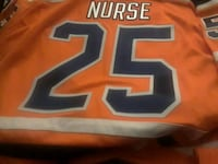 orange and blue and black and white jersey shirt Edmonton, T5E 2Z4