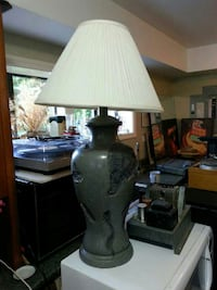 white and grey table lamp North Saanich, V8L 3Z5