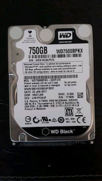 750 GB WD BLACK HARD DISC
