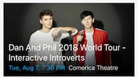 Dan and Phil 2018 World Tour poster Chandler, 85226