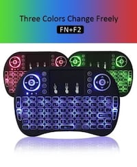 MINI KEYBOARD MOUSE WIRELESS BACKLIT 3 COLOR 2.4 GHZ 3 IN 1 COMBO