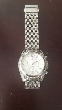 Round silver-colored michael kors chronograph watch Worcester