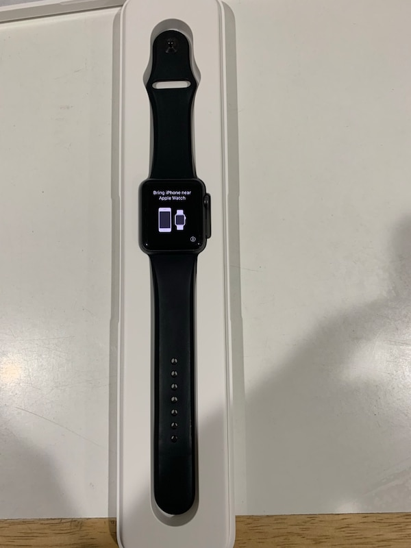 reputable site c6380 c3815 Apple Watch Sport 42mm Space Gray Aluminum Case with Black Band series 1  all original packaging bands and changers.