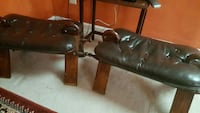 2 brown saddle style chairs Alexandria, 22312