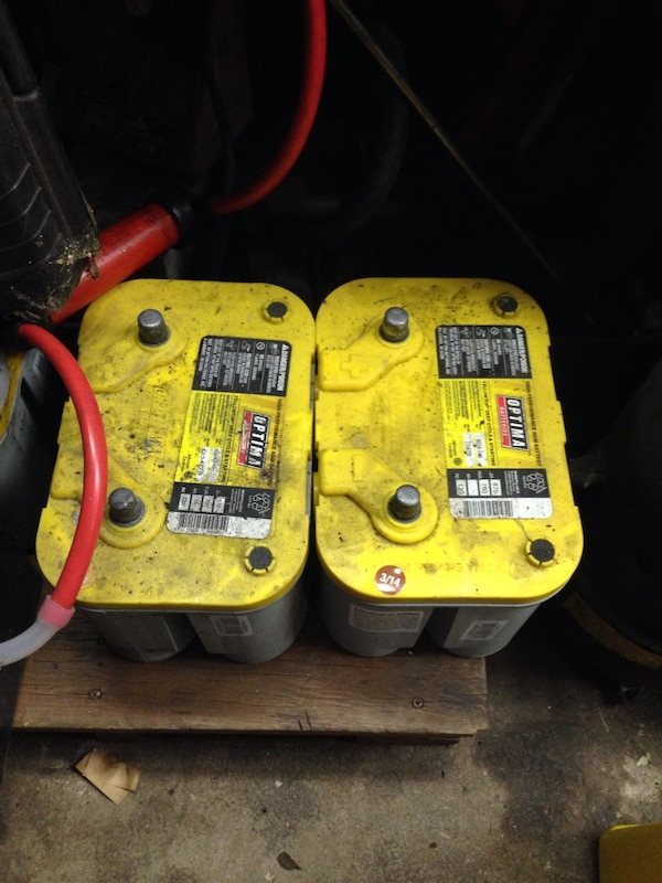 I have 3 good condition optima yellow top battery's for sale need them gone asap price is $75 each obo