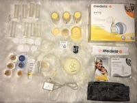 Medela swing breastfeeding pump & accessories including baby monitor Toronto, M9L 2P7