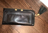 Danier leather small clutch/ purse: wallet multi-use gold detailing used few times