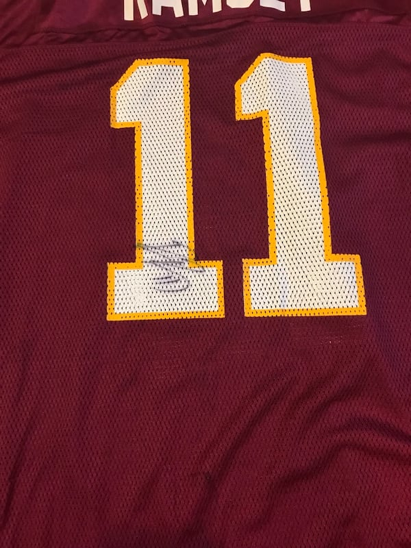 Red and white redskins 11 jersey shirt 661958ae-8301-4b11-a508-b41cf8e9be80