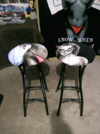 2 unique foldable bar stools freshly recovered trade for fish tank North Las Vegas, 89084