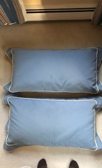 2 decorative bed pillows, 2 other