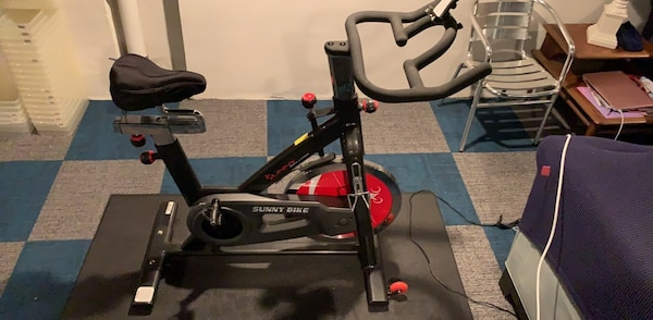 Barely used spin bike, Garmin pedals, wahoo cadence meter