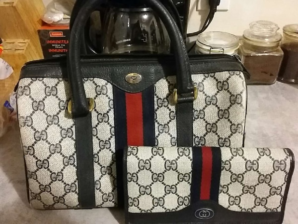 0e07b0e70b01 Used Authentic rare vintage Gucci hand bag and wallet for sale in ...