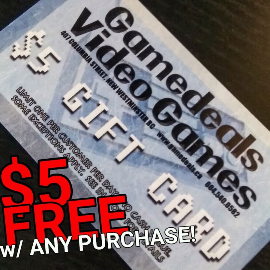 $5 for FREE w/ any purchase!