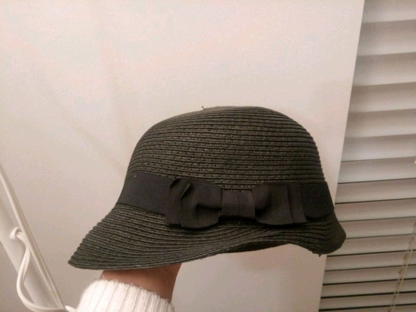 Dark grey women hat
