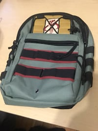 black and red striped backpack Hamilton, L8M