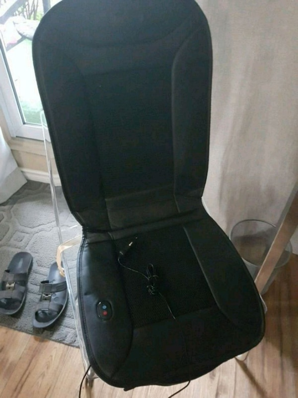 black and gray massage chair