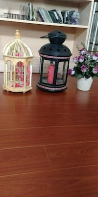 black candle lantern and other decoration pieces Richmond Hill