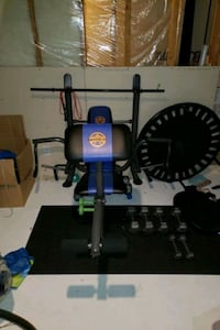 Marcy bench press + dumbells  Maple Ridge, V2W 1Z9