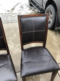 NEW WOOD/LEATHER CHAIRS  Edmonton, T6X 0A2
