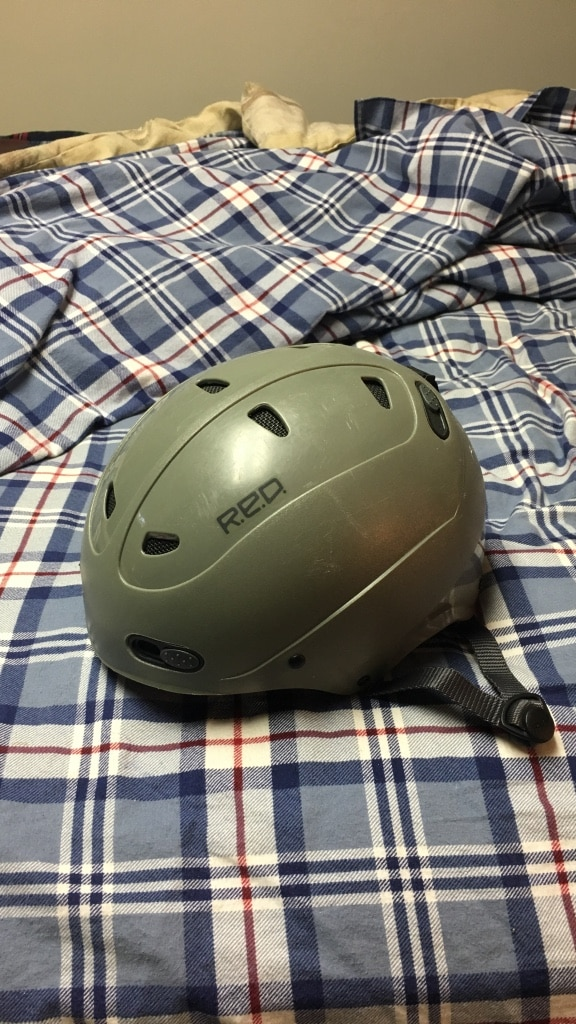 gray R.E.D. bicycle helmet for sale  Agawam