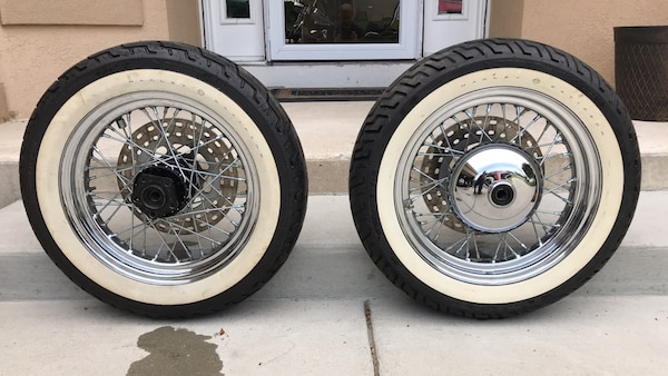 Used Harley Davidson Wheels >> Harley Davidson 16 Spoke Wheels