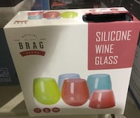 NEW Brag Silicone Wine Glass Set Calgary, T3G 1J6