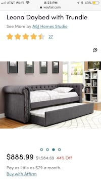 Gray daybed brand new Monroe Township, 08831