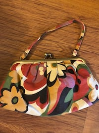 brown and green floral leather tote bag Dieppe, E1A 1Z5