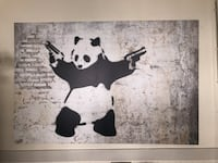 Banksy panda. Canvas print. Los Angeles, 90018