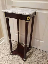 brown and white marble wooden side table Richmond Hill, L4C 6E4