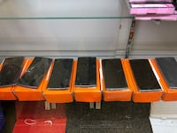 seven black Android smartphones with boxes Shreveport, 71109