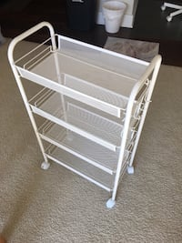 Utility cart metal white casters Indianapolis, 46240