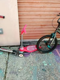 pink kick scooter