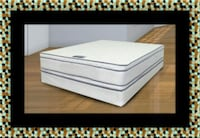 Queen mattress double pillow top with box spring 40 km