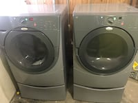 Two gray front-load clothes washer and dryer set Lancaster, 93536