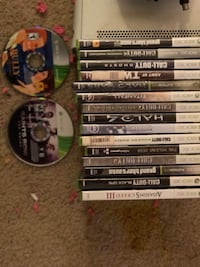 Xbox 360, two controllers, 17 games. Falls Church, 22044