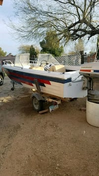 white and red speed boat Tucson, 85704