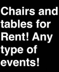 Chairs tables jumpers canopies Modesto