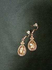 Topaz and copper drop earrings  Sugar Land, 77478