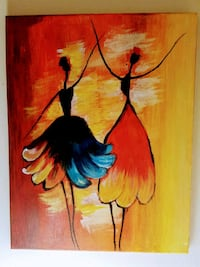 Canvas Wall Decor / Painting of 2 dancing Girls Brookline, 02445