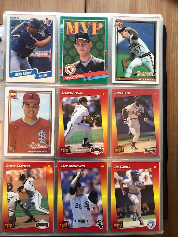 Baseball Cards 80s And 90s Low Price Need To Sell