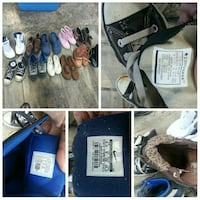 Nike, Converse, Polo shoes size 5 to 6 mostly.