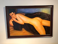 Replica Modigliani painting framed on canvas New York, 10128
